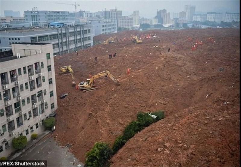 رانش زمین یک شهرک صنعتی در چین را بلعید