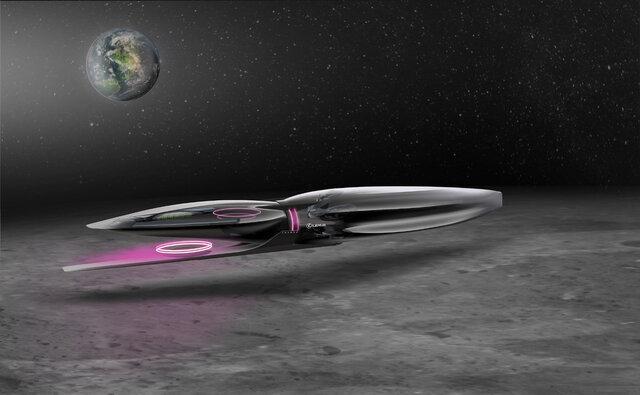 تصور لکسوس از وسایل نقلیه آینده روی ماه