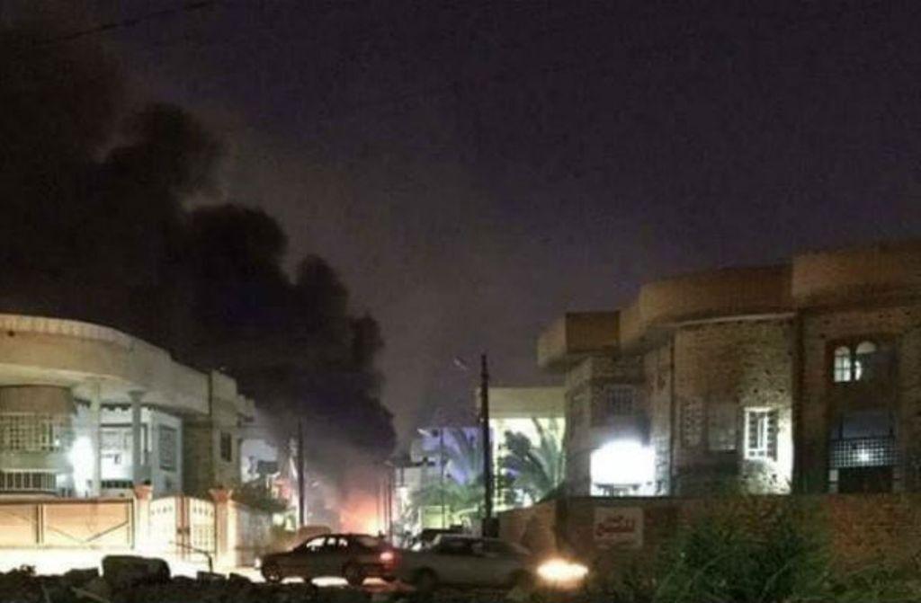 خبرنگاران حمله راکتی به منطقه سبز بغداد