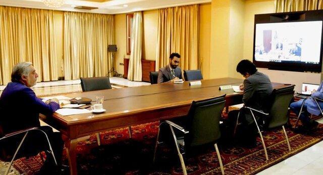 ویدیو کنفرانس عبدالله، غنی و خلیل زاد درباره صلح