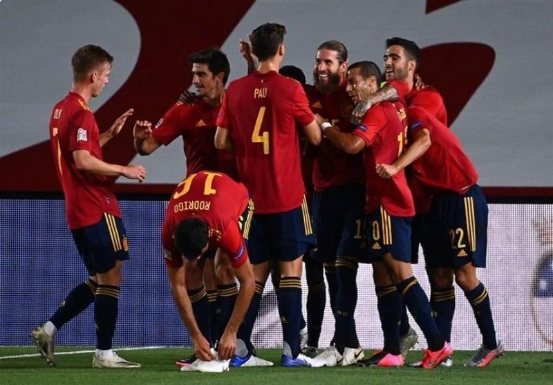 لیگ ملت های اروپا، اسپانیا، اوکراین را به چهارمیخ کشید، آلمان به سوئیس امتیاز داد