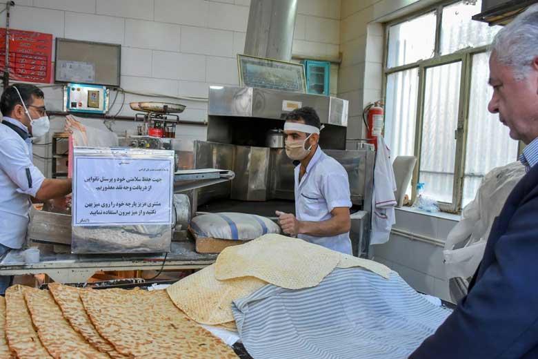 نکاتی درباره فاصله گذاری اجتماعی و رعایت بهداشت در نانوایی