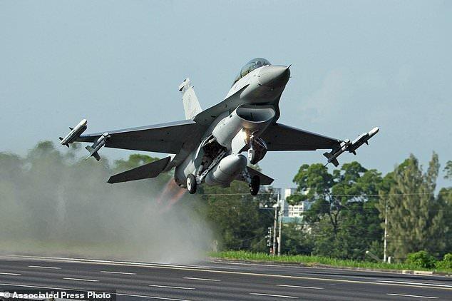 تایوان از ناپدید شدن جنگنده اف-16 حین پرواز آزمایشی خبر داد