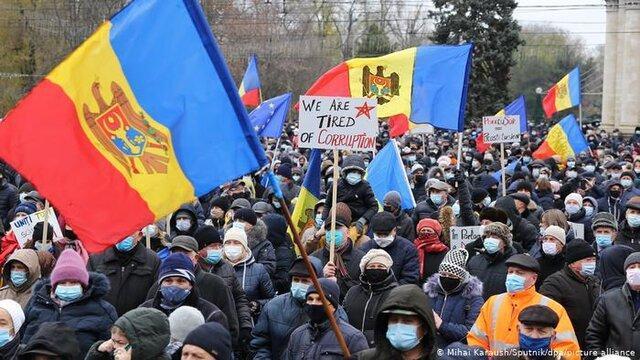 معترضان مولداوی تغییر مجلس هوادار روسیه را خواهان شدند