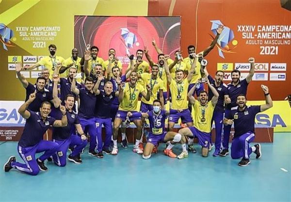 تور برزیل ارزان: تیم ملی والیبال برزیل قهرمان آمریکای جنوبی شد